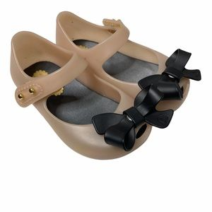MINI MELISSA BOW FRONT JELLY SHOES